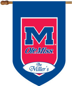 Ole Miss Personalized House Flag