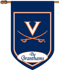 UVA Personalized House Flag