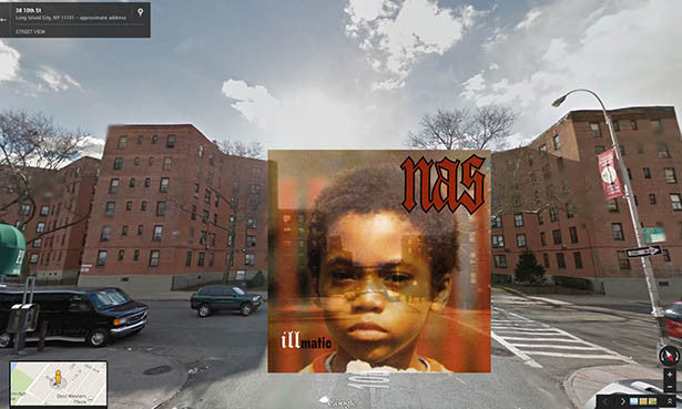 Classic Hip Hop Covers Covered in Google Maps
