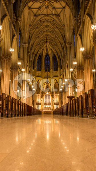empty cathedral interior