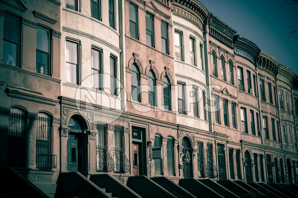 brownstones in Harlem, Uptown Manhattan NYC