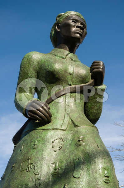 Harriet Tubman freedom fighter and Underground Railroad leader - statue in Harlem