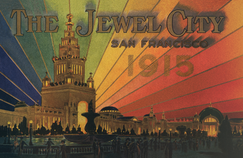 The Jewel City San Francisco 1915 Worlds Fair Poster