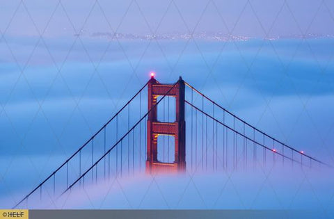 Golden Gate Bridge above the clouds