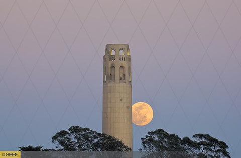 Moonlit Coit Tower