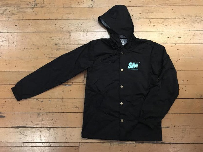 SM Logo Coach Jacket - black/tiffany