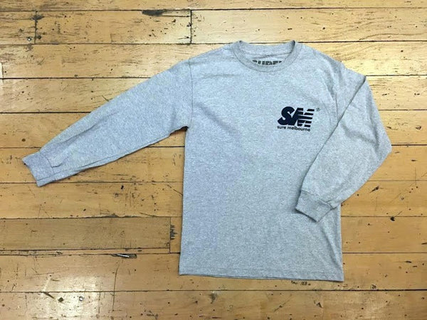 SM Logo LS - grey/navy