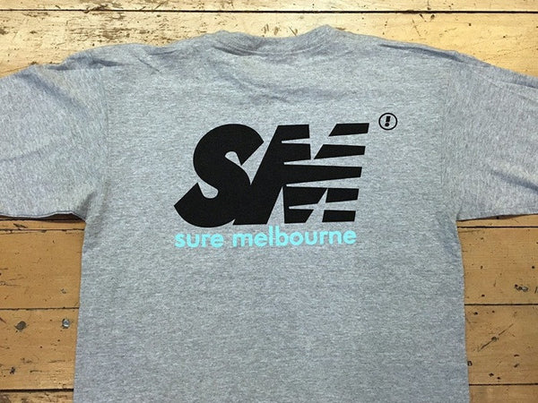SM Logo New Tone T-Shirt - grey