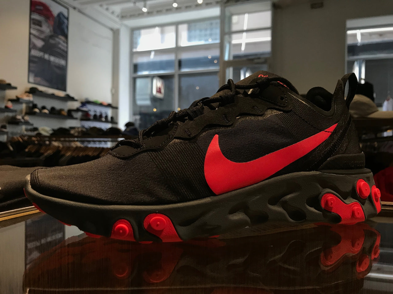 Nike React Element 55 - Black/Solar Red/Cool Grey