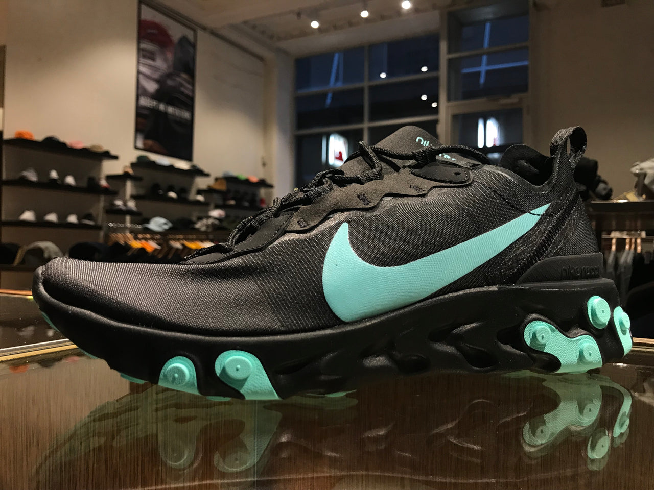 Nike React Element 55 - Black/Aurora Green/Cool Grey