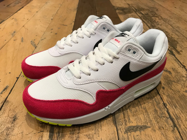 Air Max 1 - White/Black/Volt/Rush Pink