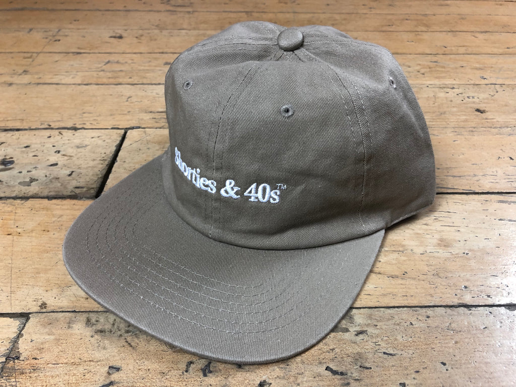 Reverse Text Logo Hat - Tan