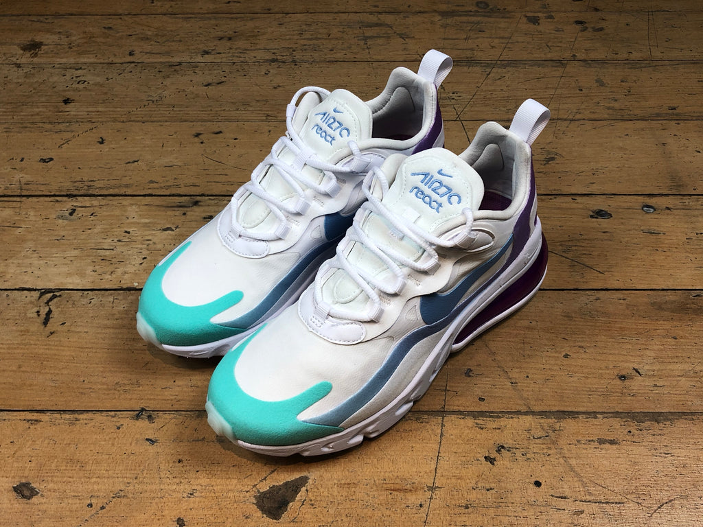 Women's 270 React - White/Light Blue/Aurora Green