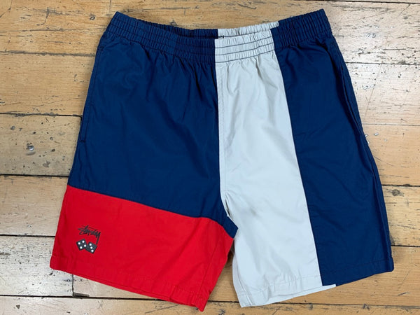 Roll The Dice Beach Short - Navy/Red