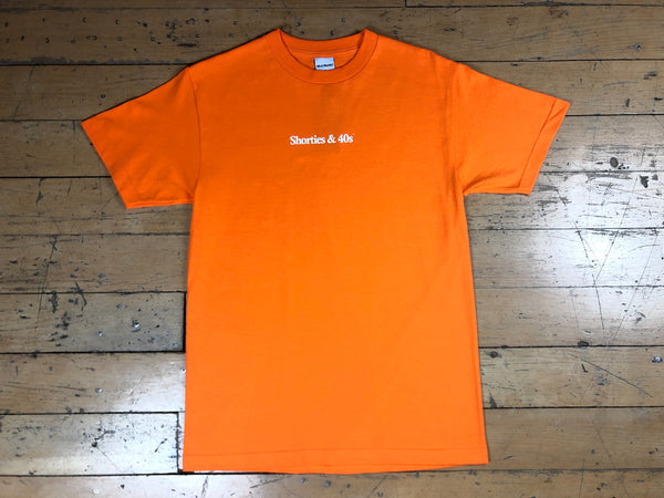 Reverse Text Logo T-Shirt - Orange
