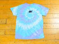 SM Embroidered Tie Dye T-Shirt - Blue / Sky