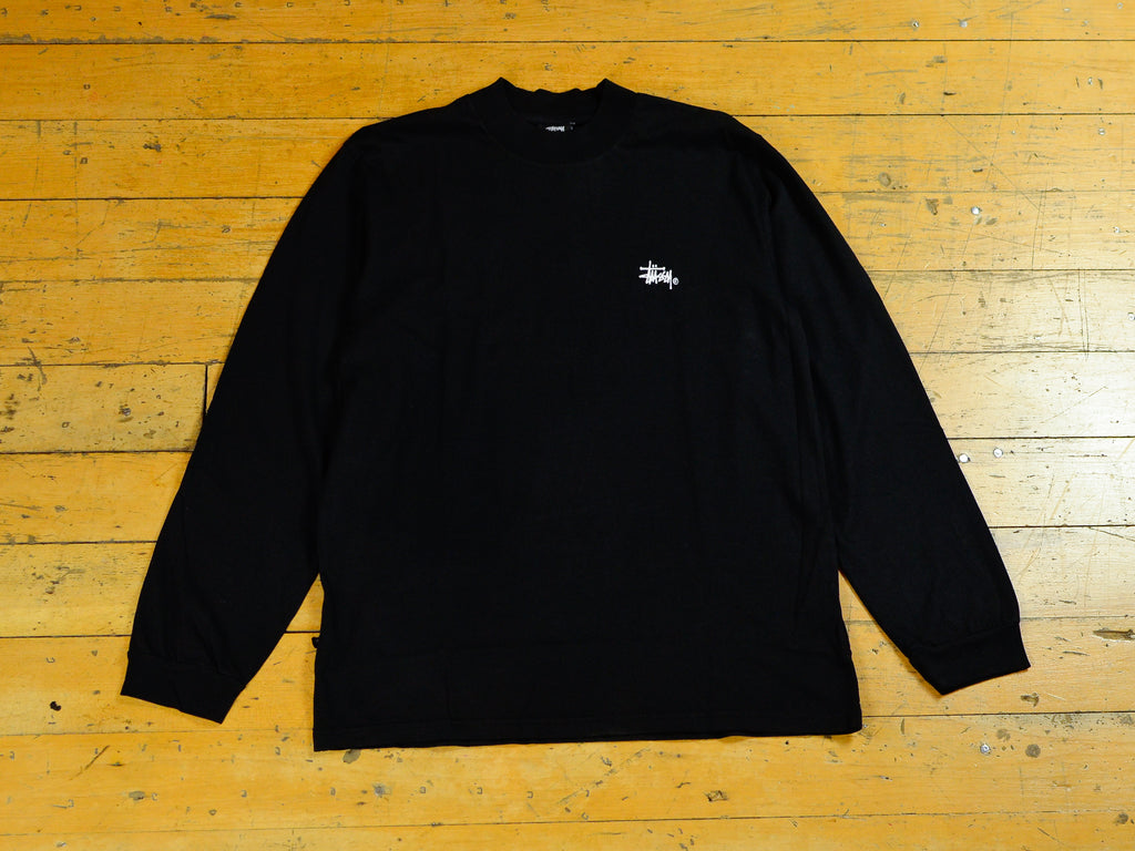 Mock Neck LS T-Shirt - Pigment Black