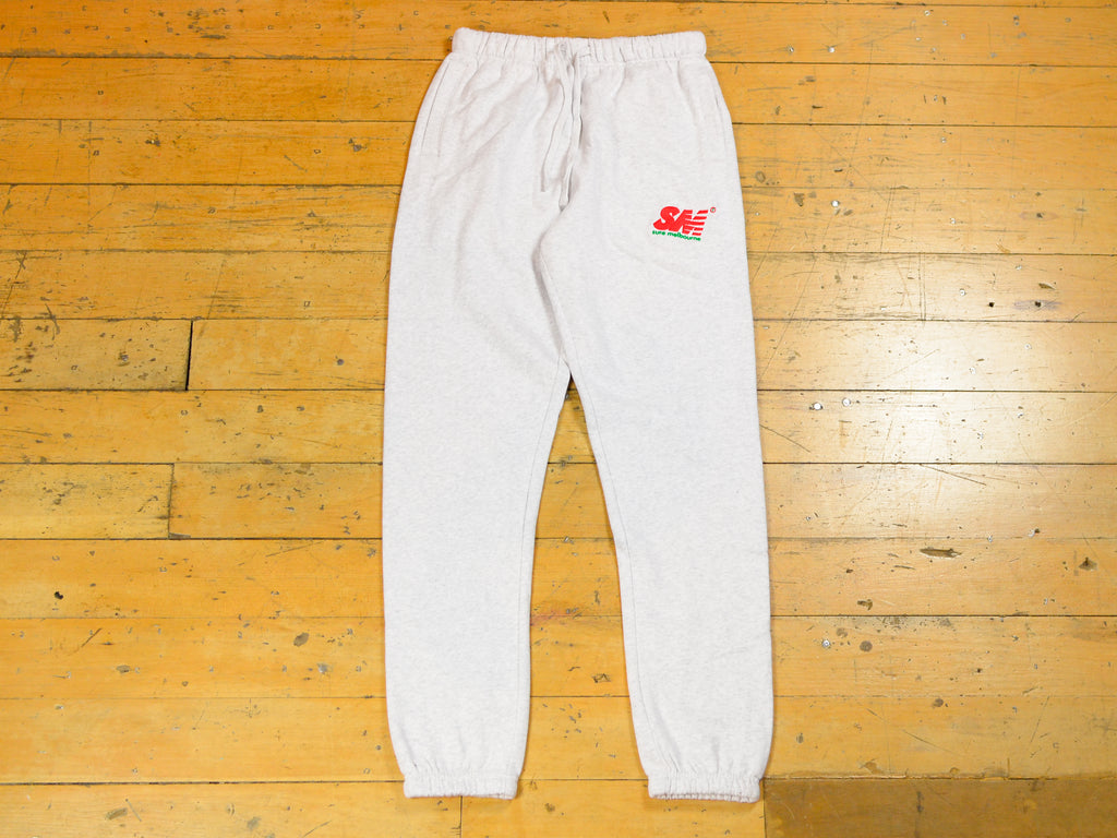 SM Embroidered Track Pant - Ash