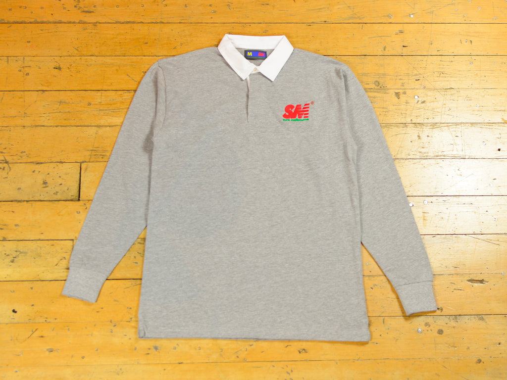 SM Embroidered Rugby - Grey / Red / Green