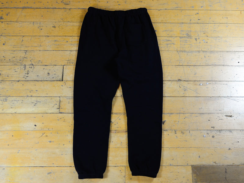 SM Embroidered Track Pant - Black