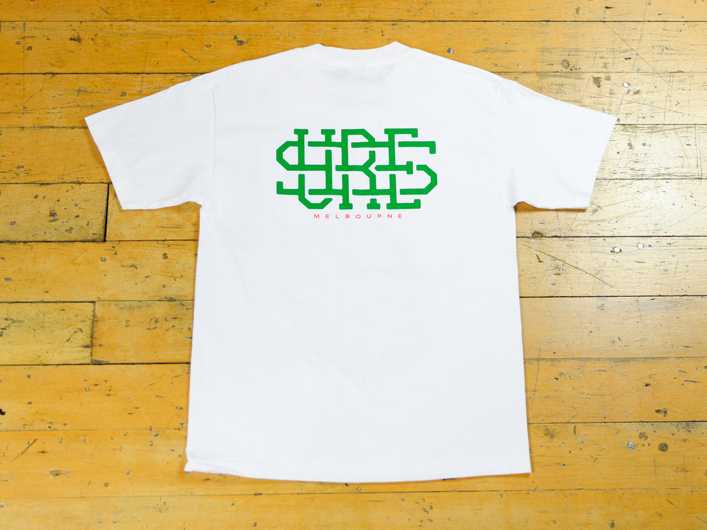 Stacked Logo Pocket T-Shirt - White