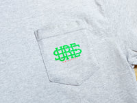Stacked Logo Pocket T-Shirt - Athletic Heather