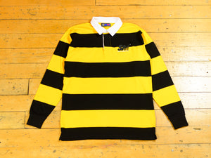 SM Embroidered Stripe Rugby - Black / Yellow