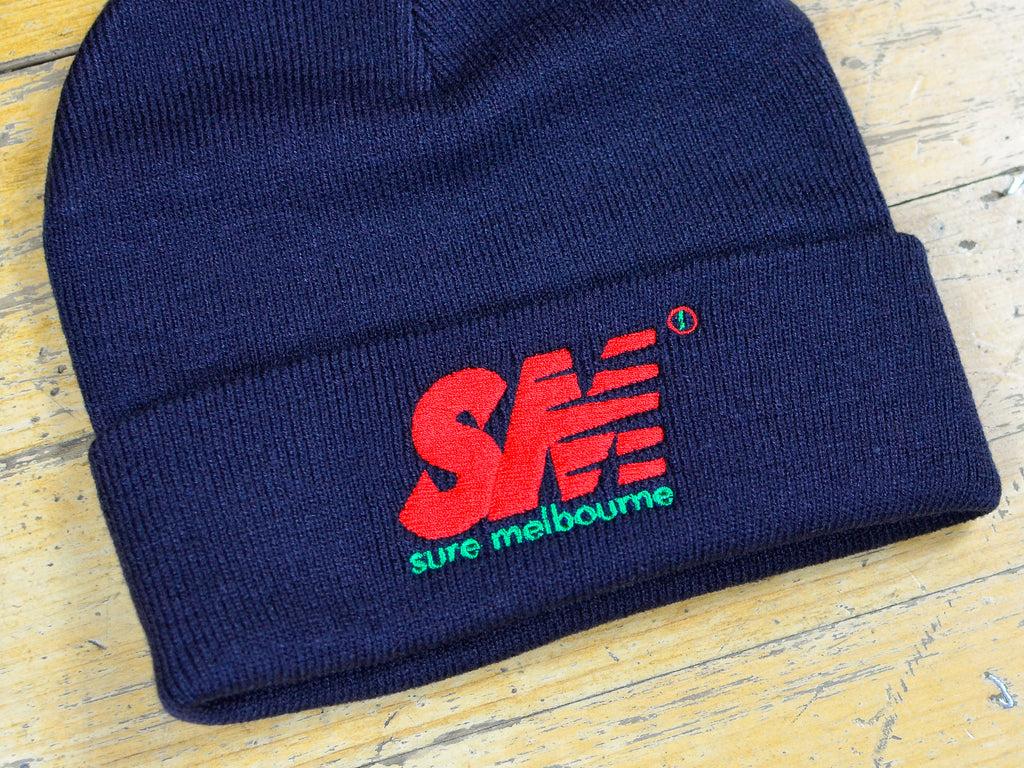 SM Embroidered Beanie - Navy