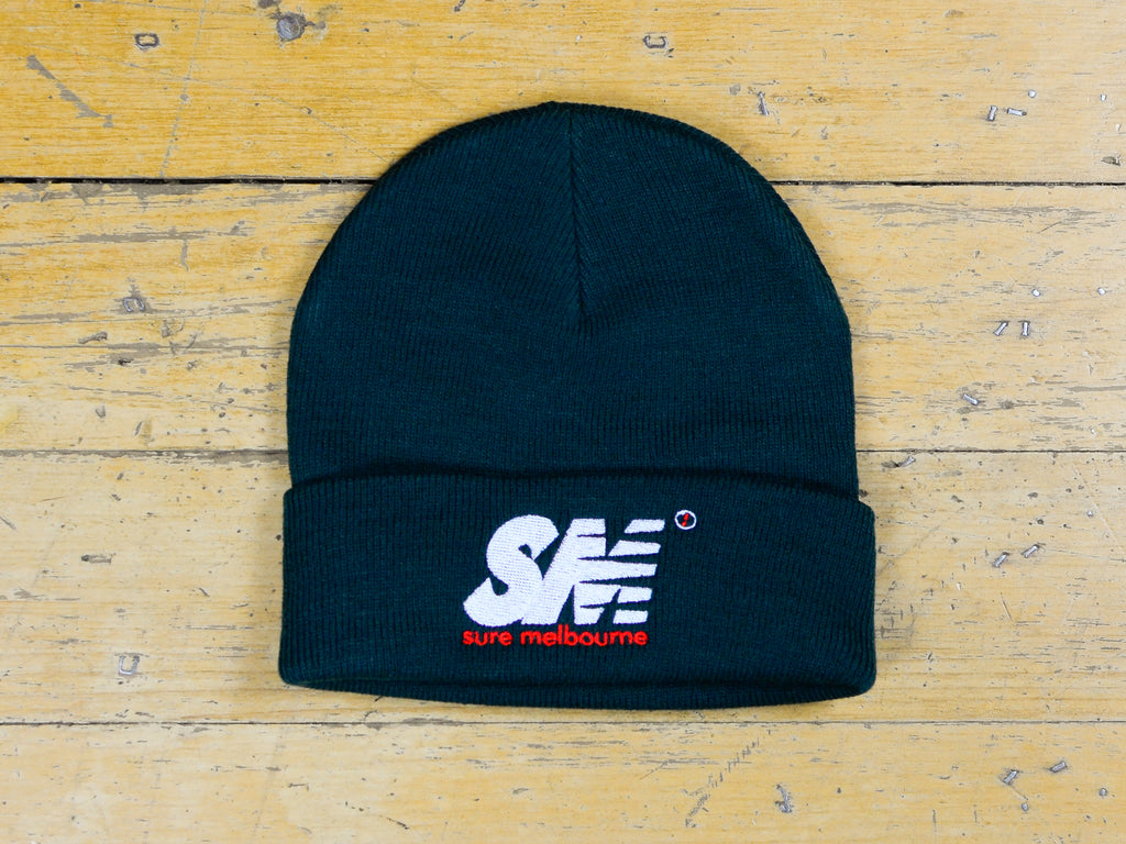 SM Embroidered Beanie - Pine Green