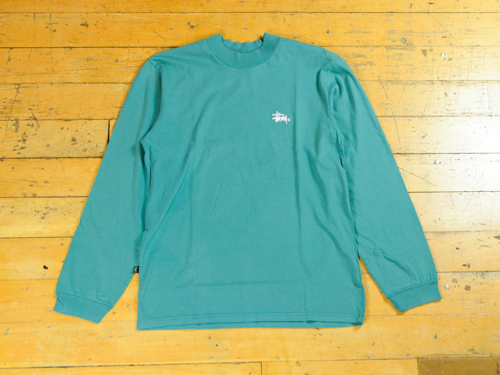 Mock Neck LS T-Shirt - Deep Sea