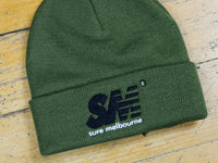 SM Embroidered Beanie - Army