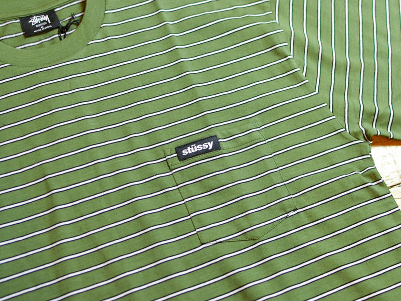 Garage Stripe T-Shirt - Flight Green