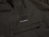 SM Embroidered Anorak Windbreaker - Black / Black / White