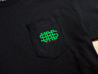 Stacked Logo Pocket T-Shirt - Black