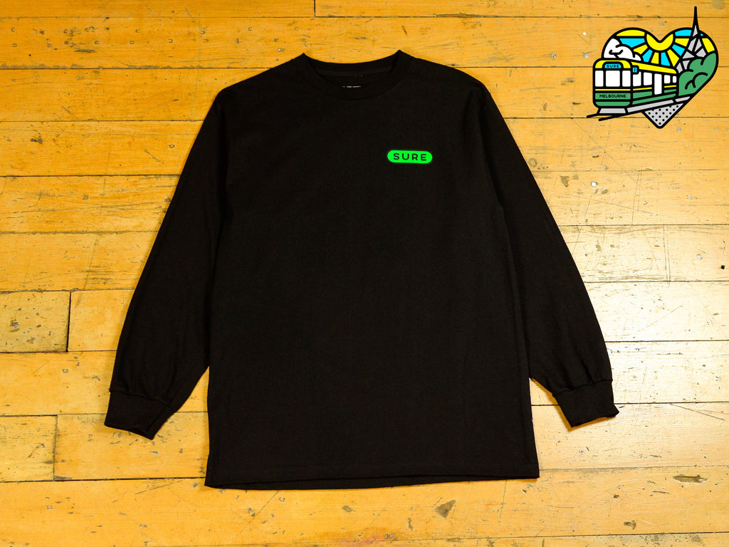 Heartbeat Long Sleeve T-Shirt - Black