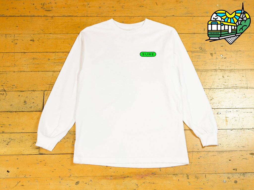 Heartbeat Long Sleeve T-Shirt - White