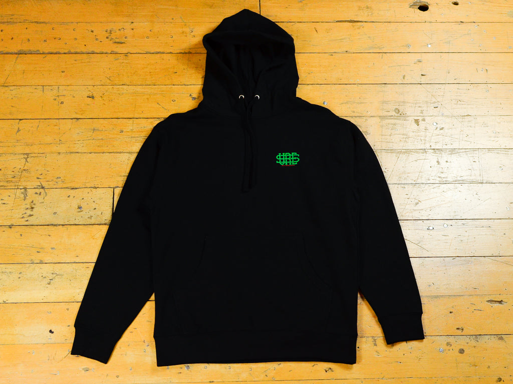 Stacked Logo Hood - Black
