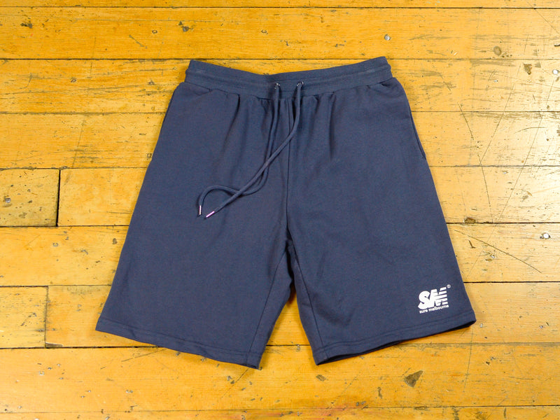 SM Jersey Short - Petrol Blue / White
