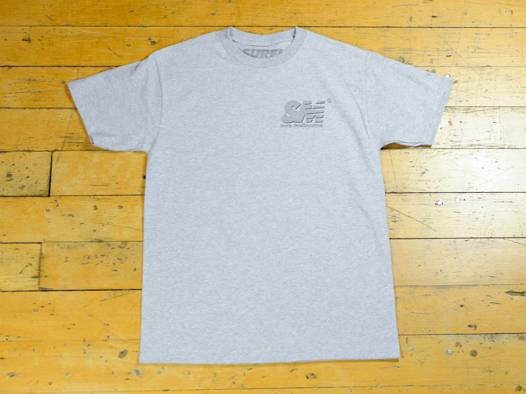 SM Shadow T-Shirt - Grey Marle / 3M / Black