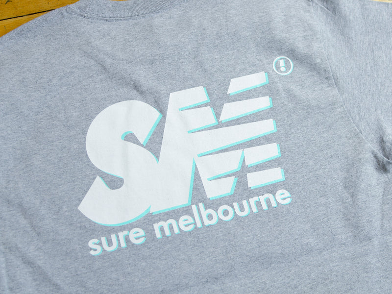 SM Shadow T-Shirt - Athletic Heather / White / Blue