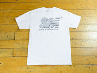 SM Shadow T-Shirt - White / 3M / Black