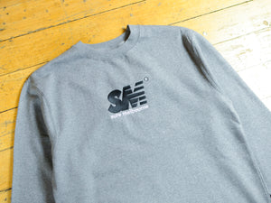 SM Embroidered Crew - Gunmetal Heather