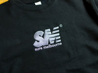 SM Embroidered Crew - Black