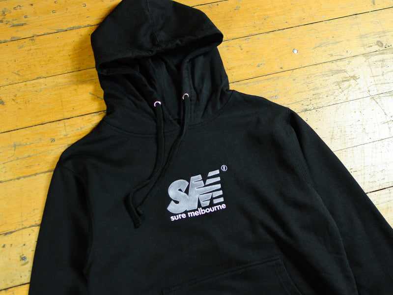 SM Embroidered Hood - Black