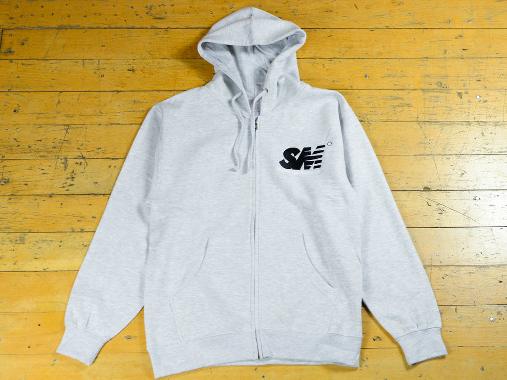 SM Embroidered Zip Hood - Athletic Heather