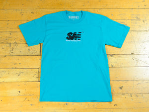 SM Embroidered T-Shirt - Jade Green