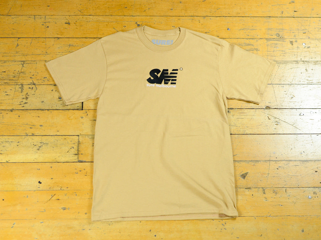 SM Embroidered T-Shirt - Sand