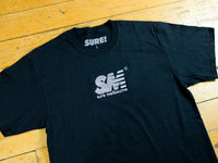 SM Embroidered T-Shirt - Black
