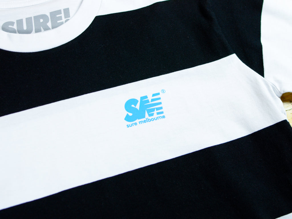 SM Wide Stripe T-Shirt - Black / White