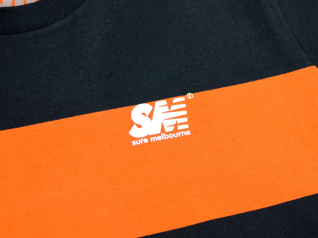 SM Wide Stripe T-Shirt - Copper / Black